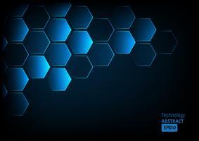 Fond abstrait d'hexagones.