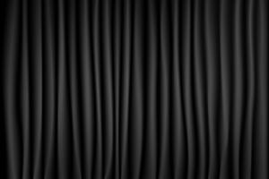 Fond de scène de scène de théâtre rideau noir et blanc. Toile de fond en velours de soie de luxe. Texture abstraite