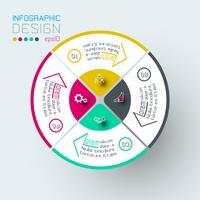 Infographie sur l'art graphique vectoriel. vecteur