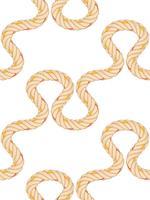 Modèle sans couture avec la flexion de la corde. vecteur