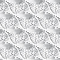 Modèle sans couture de vecteur d'éléments décoratifs monochromes.