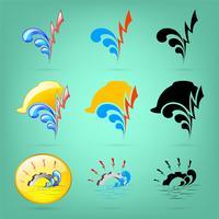 Alimentation en eau et logo de la ville électrique vecteur
