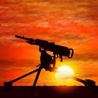 Silhouette de pistolet, le symbole de la guerre. vecteur