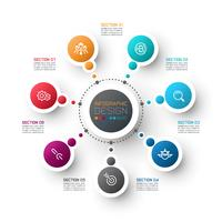Modèle d'options étape abstrait affaires infographie. vecteur