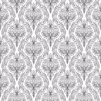 Arrière-plan transparent de motif floral thaïlandais monochrome. vecteur