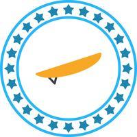 Icône de surf de vecteur