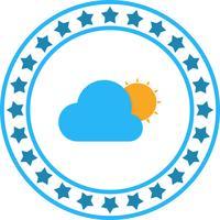 Icône de vecteur soleil et nuage