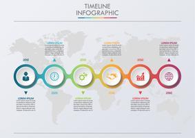 Visualisation de données commerciales. icônes infographiques timeline