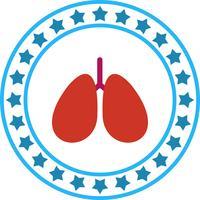 Icône de poumons de vecteur