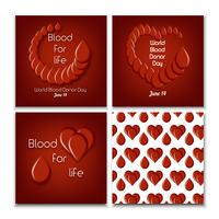 Journée mondiale du don de sang vecteur