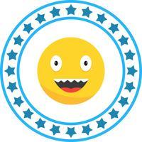 Icône de vecteur Emoji rire
