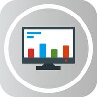 Icône de marketing en ligne de vecteur