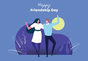 Les gens Bestfriend célèbrent la journée de l'amitié vecteur