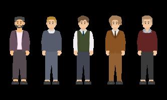 Groupe de design des personnages d'affaires.