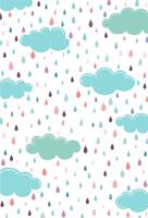 Nuage bleu le jour de pluie tombant à travers les nuages vecteur