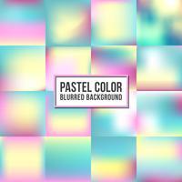 Ensemble de fond flou couleur pastel. Design de couleur douce vecteur