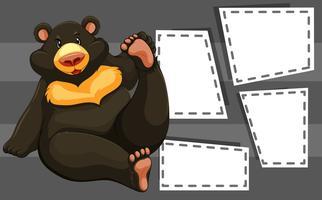 Ours sur le modèle de note