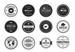 Pack de vecteur et étiquette d'étiquette de badge de vacances