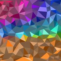 Formes géométriques abstraites colorées Fond polygonale vecteur