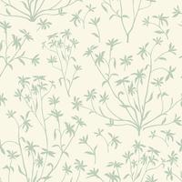 Motif sans soudure de feuilles florales. Fond de nature sauvage. Complétez le papier peint avec des plantes. vecteur