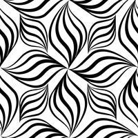 Modèle sans couture abstraite. Ornement géométrique de ligne florale tourbillon vecteur
