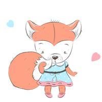 mignon petit renard vecteur