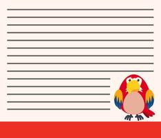 Perroquet sur modèle de note