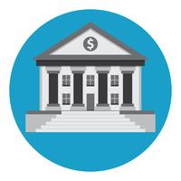 icône de vecteur de bâtiment de banque