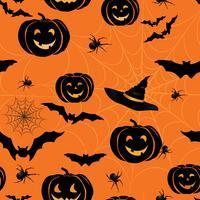 Modèle sans couture Happy Halloween. Fond fête de vacances avec