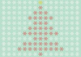 Vecteur d'arbre de Noël flocon de neige