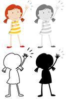 Ensemble de personnage de fille