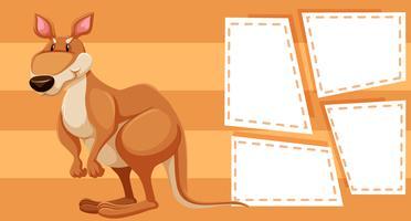 Kangourou sur modèle de note