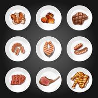 Un ensemble de protéines alimentaires