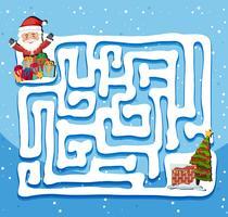 Modèle de jeu de labyrinthe du père Noël