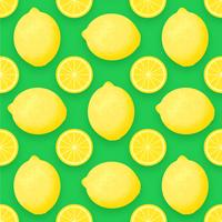 Fruit de citron Vector Background