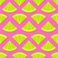 Fond de vecteur de tranches de citron vert frais