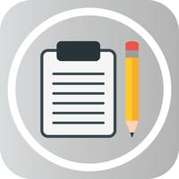Vector Clip board et icône de crayon