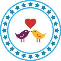 Icône d'amour vecteur oiseaux