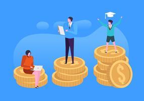 Illustration de l'assurance de la finance familiale