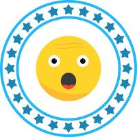 Icône Emoji Surprise Vector