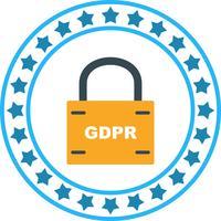 Icône de verrou de sécurité Vector GDPR