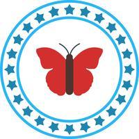 Icône de papillon de vecteur