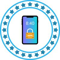 Icône de verrouillage de sécurité mobile Vector GDPR