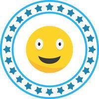 Icône Emoji heureux de vecteur
