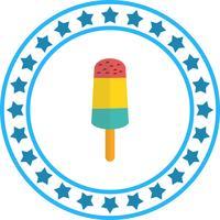 Icône de crème glacée de vecteur