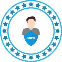 Icône de vecteur GDPR sécurité men avatar