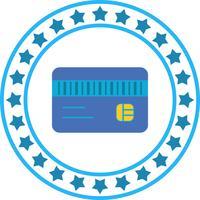 Icône de carte ATM de vecteur