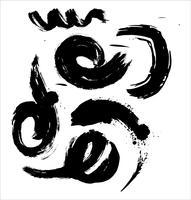 Coups de pinceau à la main dessinée illustration vectorielle - vecteur