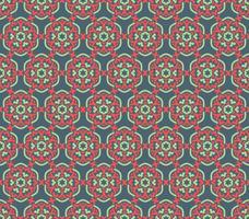 Symétries décoratives de modèle sans couture, vecteur de motif d'ornement