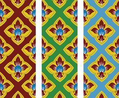 Modèle d'art de style traditionnel thaïlandais en vecteur